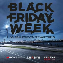 LA BLACK FRIDAY WEEK ARRIVA CON TRE OFFERTE