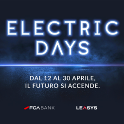 "FCA BANK E LEASYS DANNO IL VIA AGLI ""ELECTRIC DAYS"""