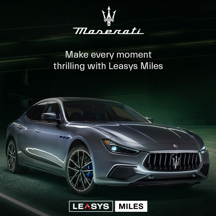 INTRODUCING LEASYS MILES MASERATI: PAY PER USE RENTAL MEETS THE ELEGANCE   AND LUXURY OF THE HOUSE OF THE TRIDENT